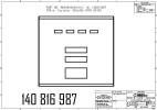Дверка с индикацией и 16-клавишной клавиатурой предвыбора, в сборе SK700, 4PPU