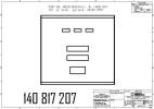 Дверка с индикацией и 5-клавишной клавиатурой предвыбора, в сборе SK700, 3PPU