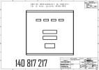 Дверка с индикацией и 5-клавишной клавиатурой предвыбора, в сборе SK700, 4PPU